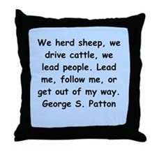 george s patton quotes Throw Pillow