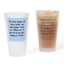 george s patton quotes Drinking Glass
