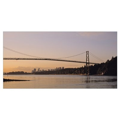 Canada, British Columbia, Vancouver, Lions Gate Br Poster