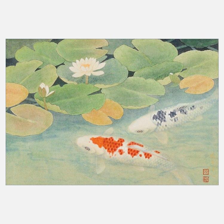 A Couple under Lotus (II)