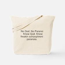 """""""No God"""" Tote Bag"""