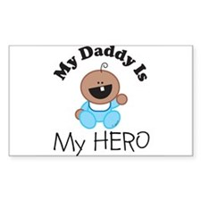 My Daddy Is My HERO (boy 1) Rectangle Decal