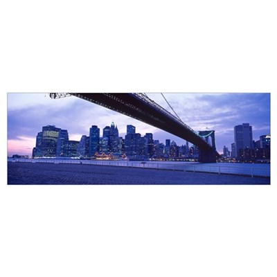New York, Brooklyn Bridge Framed Print