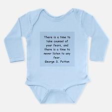george s patton quotes Long Sleeve Infant Bodysuit