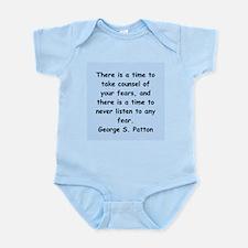 george s patton quotes Infant Bodysuit