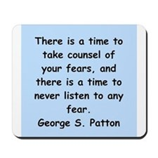 george s patton quotes Mousepad