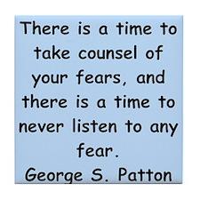 george s patton quotes Tile Coaster