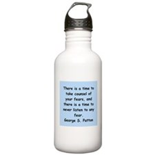 george s patton quotes Water Bottle