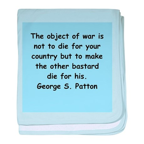 george s patton quotes baby blanket