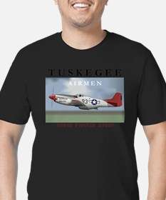 Cute Tuskegee airmen Men's Fitted T-Shirt (dark)