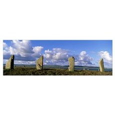 Scotland, Orkney Islands, Ring of Brodgar Canvas Art
