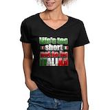 Life 27s too short not to be italian Womens V-Neck T-shirts (Dark)