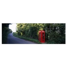 England, Worcestershire, phone booth Canvas Art