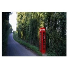 England, Worcestershire, phone booth