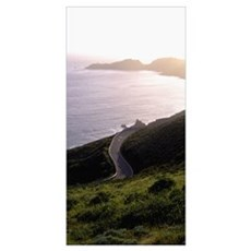 California, coastline road Poster