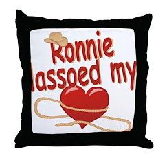 Ronnie Lassoed My Heart Throw Pillow