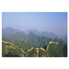 High angle view of the Great Wall of China, Badali