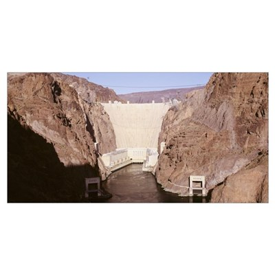High angle view of a dam, Hoover Dam, Clark County Canvas Art