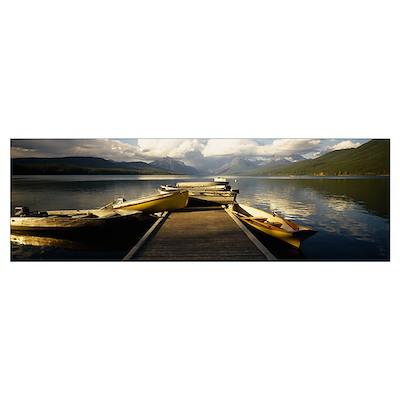 Lake McDonald Glacier National Park MT Poster