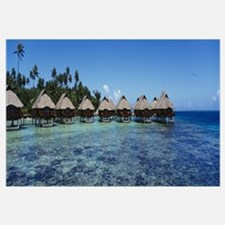 Beach huts on water, Bora Bora, French Polynesia
