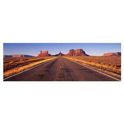 Road Monument Valley Poster