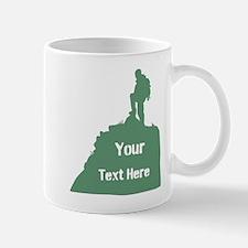Hiking Climbing. Custom Text. Mug