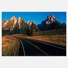 Road Grand Teton National Park WY