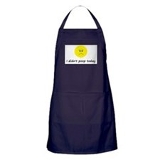 I didn't poop today Apron (dark)