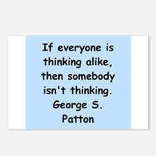 george s patton quotes Postcards (Package of 8)