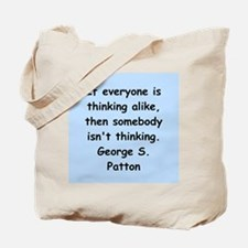 george s patton quotes Tote Bag