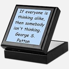 george s patton quotes Keepsake Box