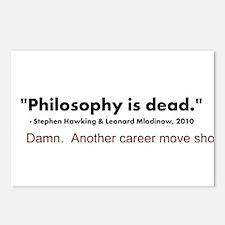 """Philosophy Is Dead"" Postcards (Package of 8)"