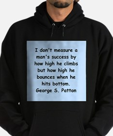 george s patton quotes Hoodie (dark)