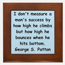 george s patton quotes Framed Tile