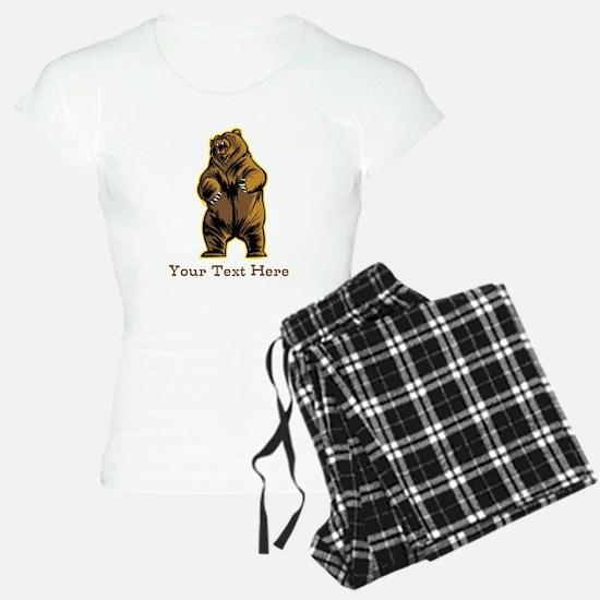 Bear. Custom Text. Pajamas