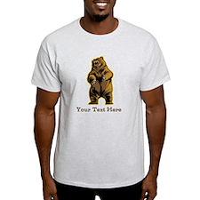 Bear. Custom Text. T-Shirt