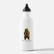 Bear. Custom Text. Water Bottle