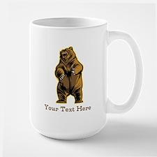 Bear. Custom Text. Ceramic Mugs