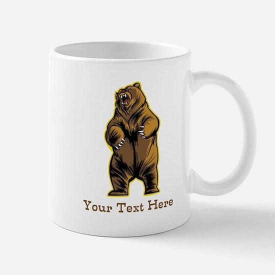Bear. Custom Text. Mug