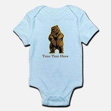Bear. Custom Text. Infant Bodysuit