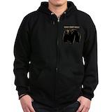 Black bear Zip Hoodie (dark)