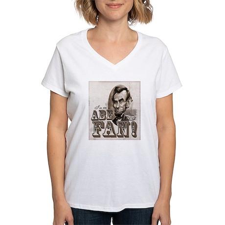 Abe Fan Women's V-Neck T-Shirt