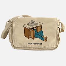 Plumber. Custom Text. Messenger Bag