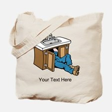 Plumber. Custom Text. Tote Bag