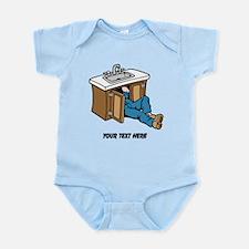 Plumber. Custom Text. Infant Bodysuit