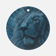 Ghostly Lion Ornament (Round)