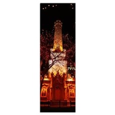 Night Old Water Tower Chicago IL Poster
