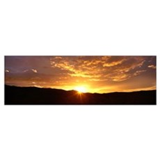Sunrise Santa Rosa Mts Anza Borrego Desert State P Poster