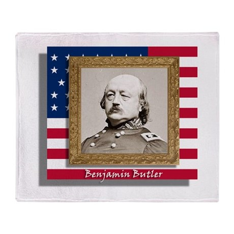 Benjamin Butler Throw Blanket