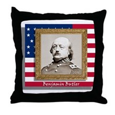 Benjamin Butler Throw Pillow